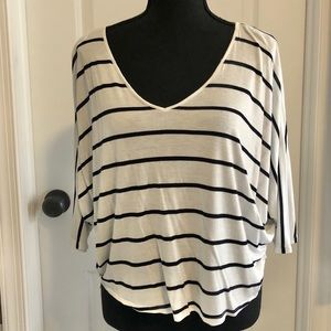 Express stripe blue and white blouse size small